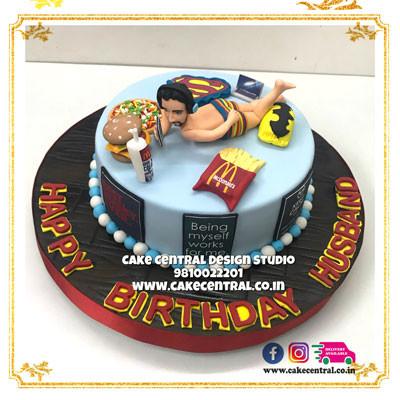 Funny Bed Cake for Husband in Delhi Online