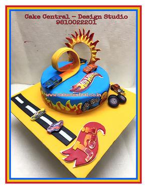 Hot Wheels theme Kids Birthday Cake in Delhi Online