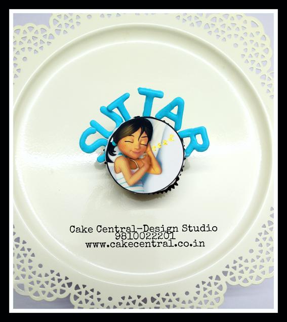 Sleeping Girl themed designer Cupcake - Cake Central Premier Cake Design Studio Delhi. New Delhi