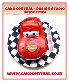Disney Lighting Mcqueen Cake Delhi | Kids Cartoon Cake | Online Cake Delivery Delhi , Delhi NCR , Gurgaon ,Noida