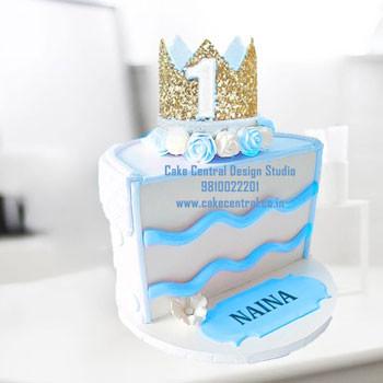 Half Birthday Cake Design Delhi