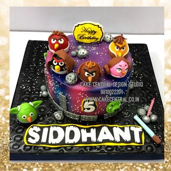 Angry Birds Cake in Delhi