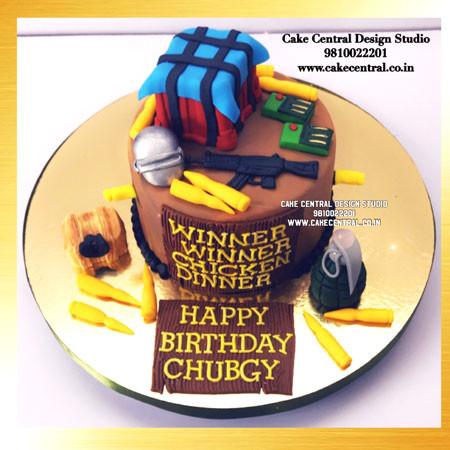 Best Pugb Cake Design Images in Delhi, Noida Gurgaon