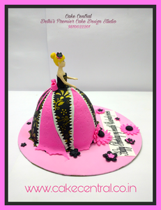 Barbie Doll Cake Delhi , Designer Barbie Cake , Princess Cake Delhi , 4D Barbie Cake , Barbie Princess Theme Fondant Cake ,  3D Designer Barbie  Cake , Barbie Doll shaped Birthday Cake  -  Cake Central –Premier Cake Design Studio  Delhi  . New Delhi .