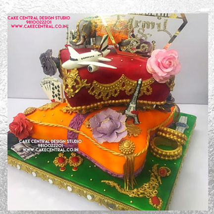 Cushion Cake for 25th Wedding Anniversary in Delhi Online