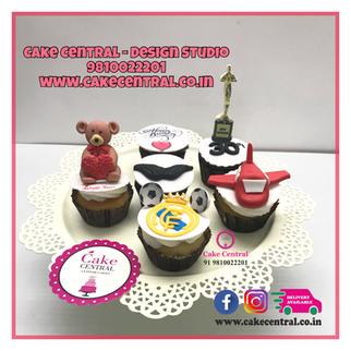 Teddy , Heart , Plane , Love Themed Customized Cupcakes Delhi NCR  | Order Personlized Cupcakes Online Delhi NCR -Cake Central - Premier Cake Design Studio , New Delhi , Delhi
