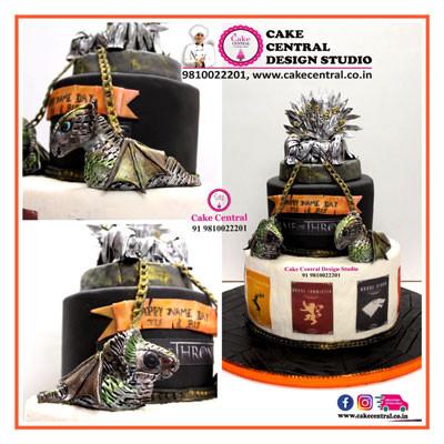 Iron throne & Dragons Cake_ Game Of Throne theme_Delhi_Online