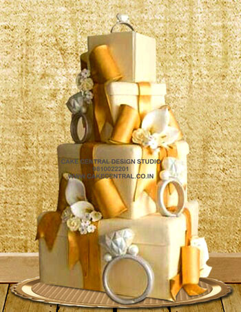 Ring Box Engagement cakes in Delhi Online