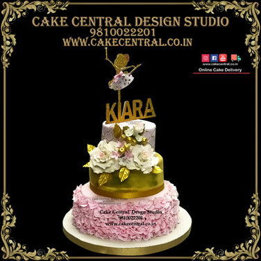 Princess Cake for 1st Birthday in Delhi Online