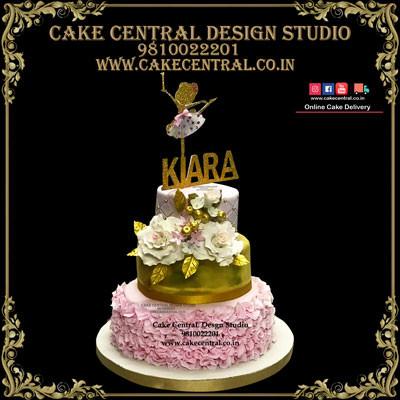 Princess Cake for 1st Birthday in Delhi Online