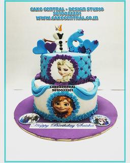 Disney Frozen  Elsa, Anna Cake