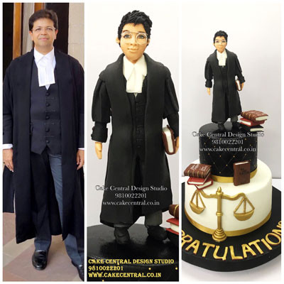 Lawyer Cake , Lawyer Robe Gown Cake in Delhi Online
