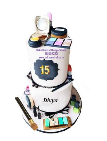 Makeup theme Birthday Cake