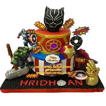 Black Panther Avenger Cake in Delhi Online