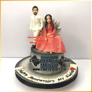 Best Wedding Anniversary Cake Design Delhi
