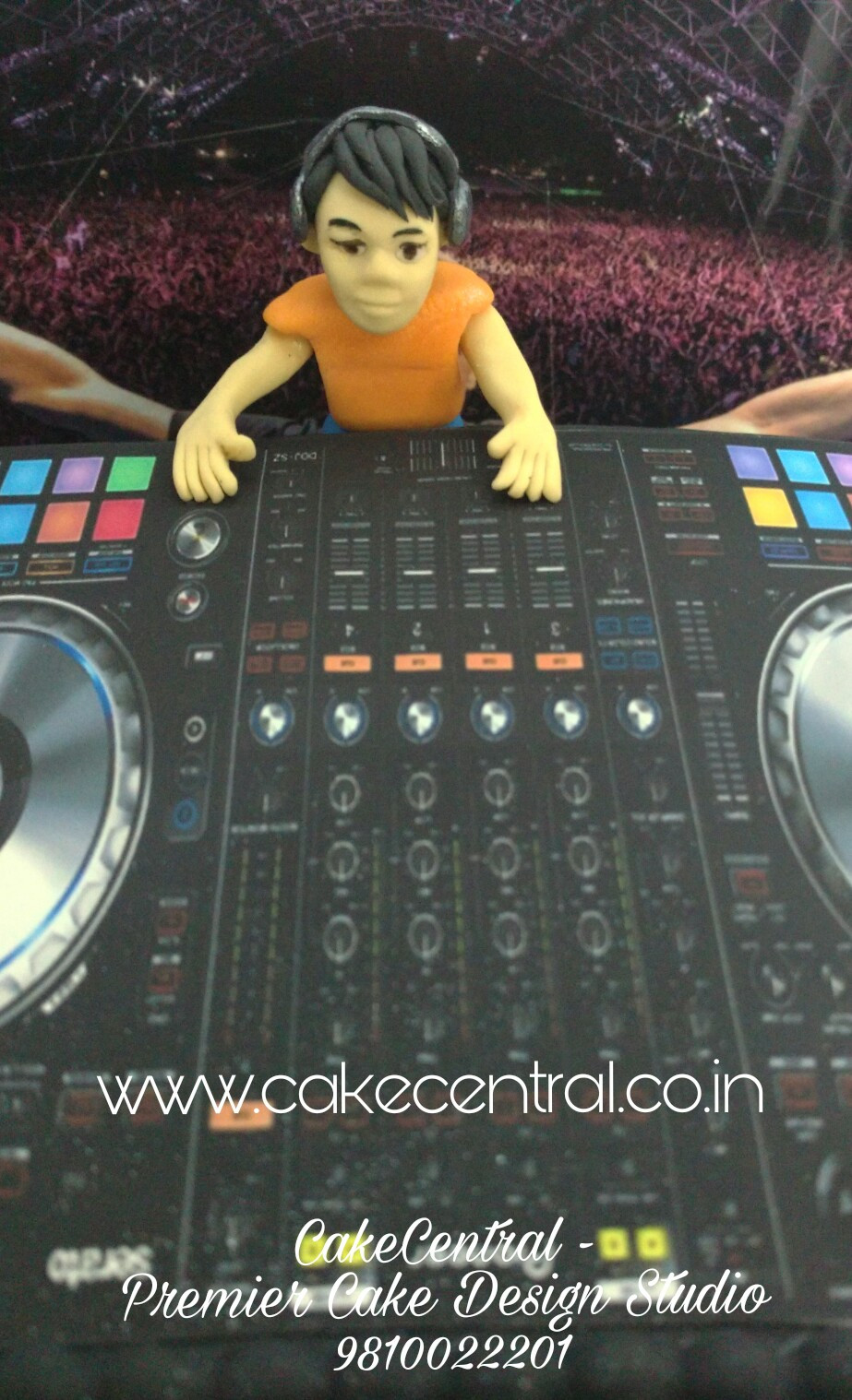 DJ Theme Cake Delhi , DJ theme Fondant Cake , Customized  Designer DJ theme Birthday Cake  , 4D DJ Cake Delhi by Cake Central - Premier Cake Design Studio Delhi 9810022201