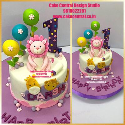Lion in The Jungle Cake Design Online in Delhi