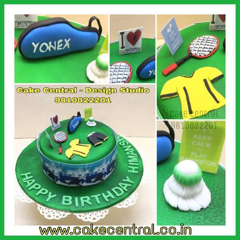 Badminton Cake Delhi | Badminton Racket Birthay Cake |Shuttlecock Cake | Online Designer Cakes with Delivery