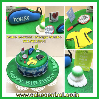Kids Badminton Birthday Cake in Delhi Online