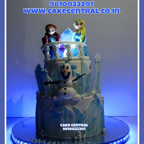 3D Frozen Elsa Princess Castle Cake in Delhi Online