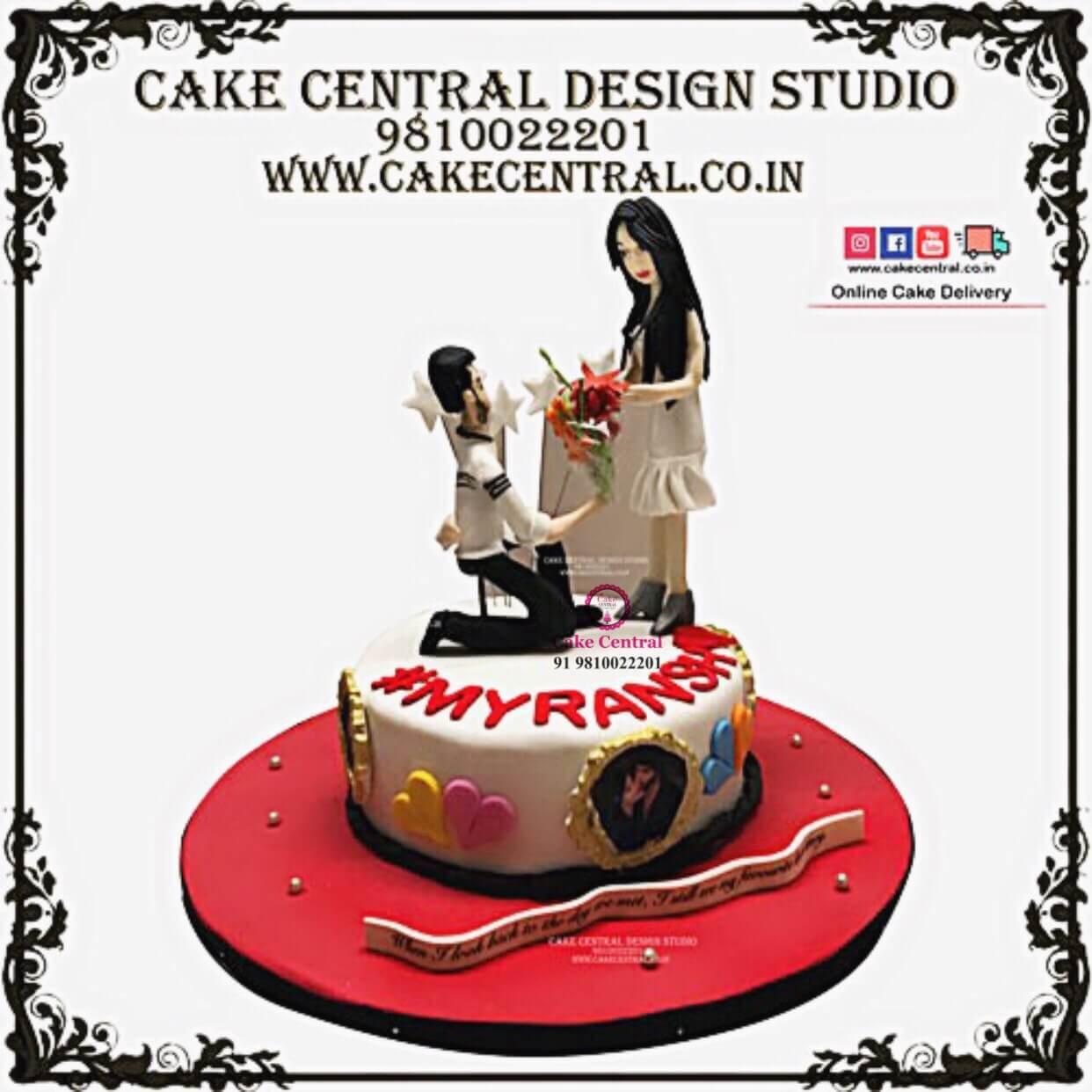 Heart Shaped Romantic Cakes In Delhi Amazing Customised Cake Designs