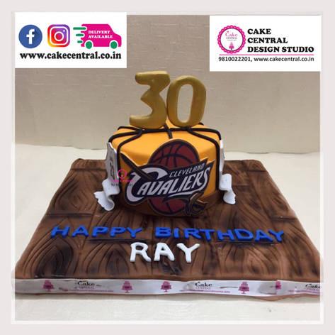 Basket Ball Cake in Delhi Online - Cake Central Design Studio , New Delhi , Delhi