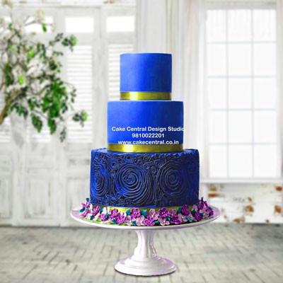 Blue & Golden Repection Cake in Delhi Online