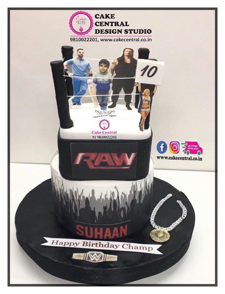 Wwe Wrestling Birthday Cake Delhi Sports Cake Delhi Online Cake