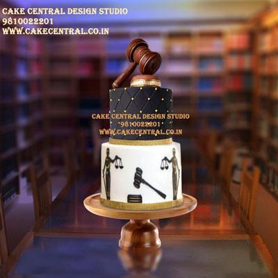 Advocate Cakes in Delhi Online - Law Cake Designs