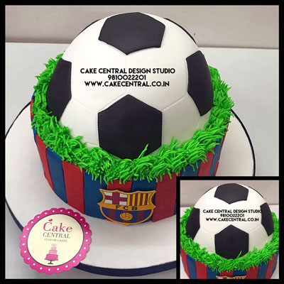 FCB football shaped Cakes in Delhi Online