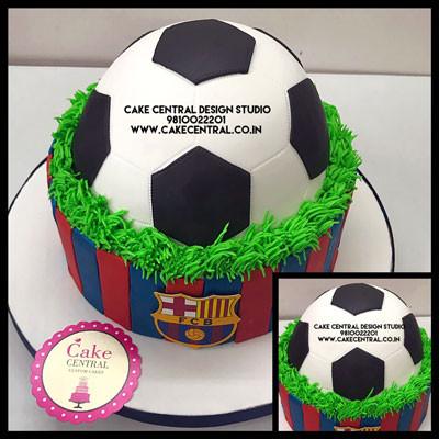 FCB football shaped Cakes in Delhi Online