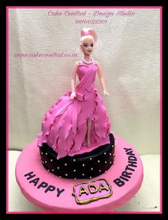 Barbie Doll Cake for Kids Birthday DElhi