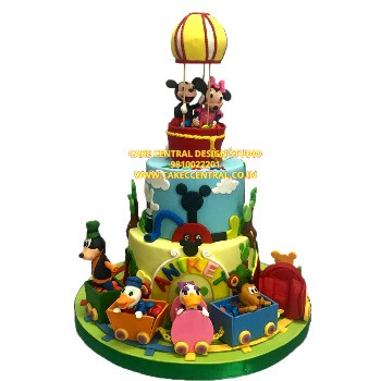 Best Disney Mickey Mouse Club House 1st Birthday Cake in Delhi Online