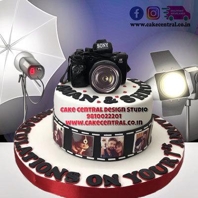 Camera Cake for 1st Anniversary in Delhi Online