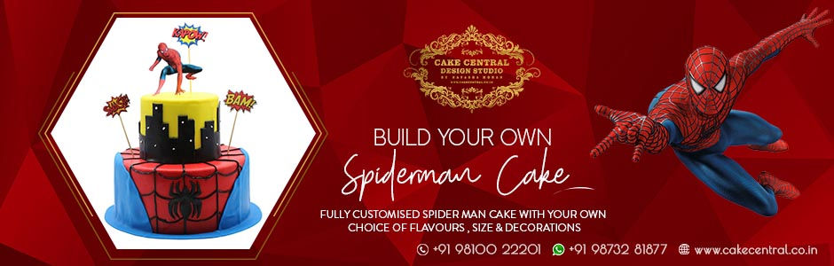 Spider man theme cakes in Delhi Online .jpg