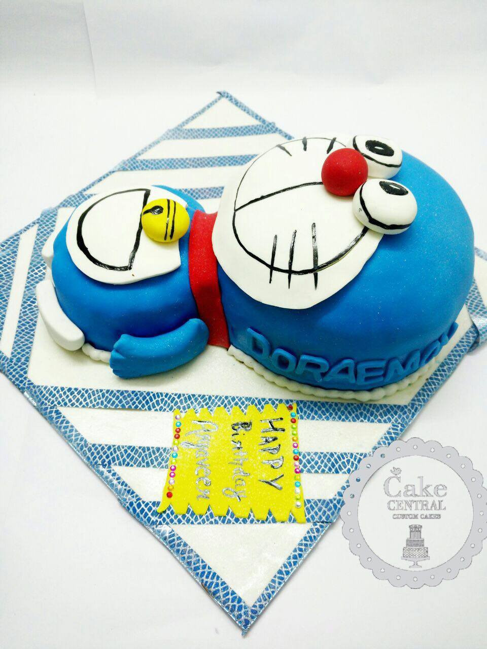 3D Designer Doraemon Birthday Cake , Fondant themed Doraemon Cake by Cake Central Delhi . New Delhi