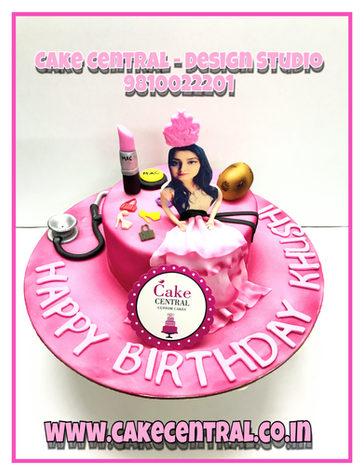 Fashion & Princess themed Birthday Cake Delhi
