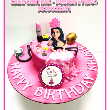 Princess theme Birthday Cake in Delhi