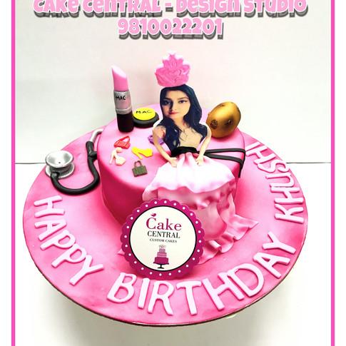 Princess theme Birthday Cake in Delhi