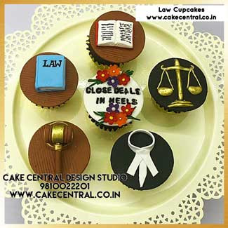 Lawyer_Law Themed Cupcakes in Delhi Online