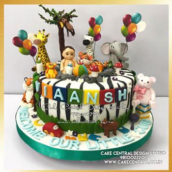 Jungle Animals Cake in Delhi Online
