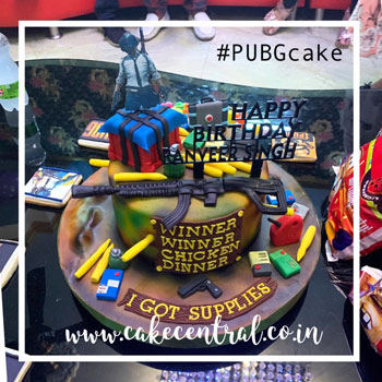 Pubg Theme Cakes Delhi Online