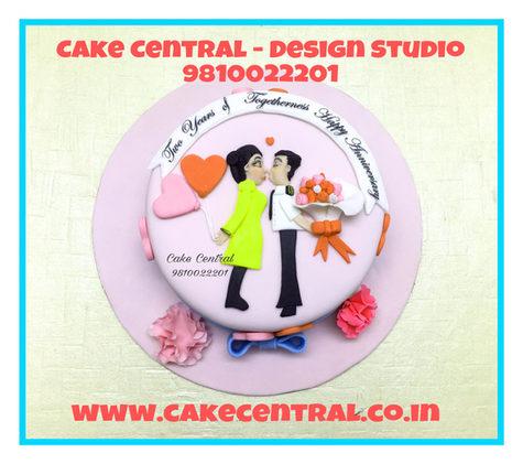 Hugs & Kisses Cake Delhi