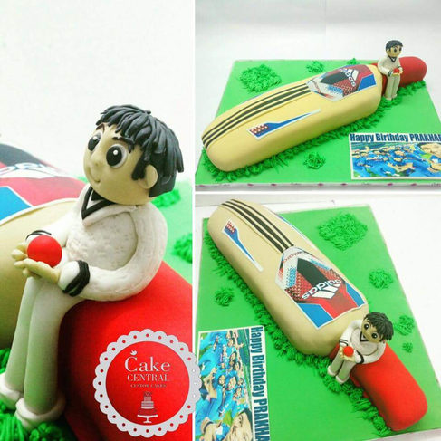 Birthday Cake for a Cricket Fan and Player