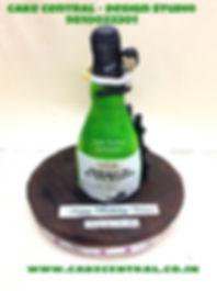 Funny Scotch Whisky Bottle Cake in Delhi Online