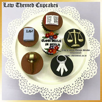 law & lawyer themed cupcakes in delhi