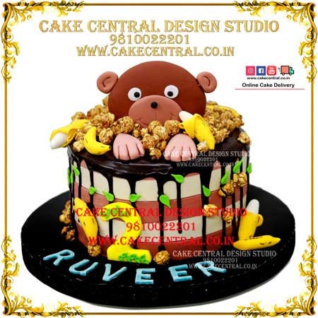 Jungle Cakes with Teddy in Delhi Online in Delhi