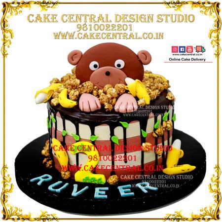Jungle Cakes with Teddy in Delhi Online in Delhi