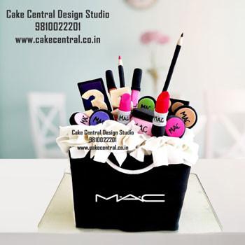 Mac Makeup Cake Design Delhi Online