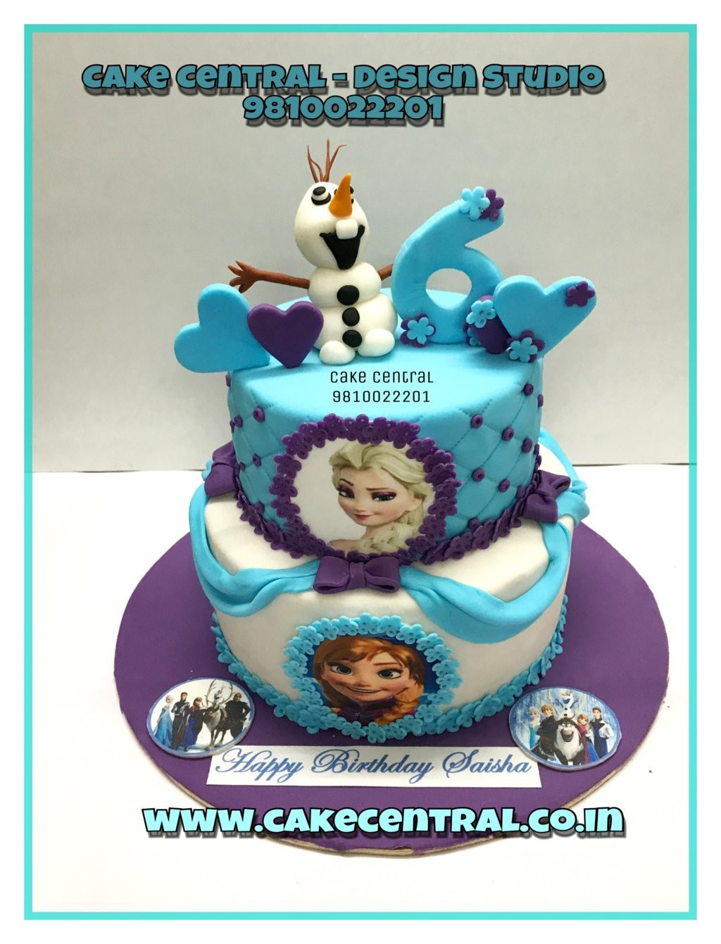 Disney Princess Kids Birthday Cake Delhi